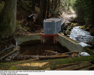 Indian Creek Water Diversion After Fish Screen Was Installed