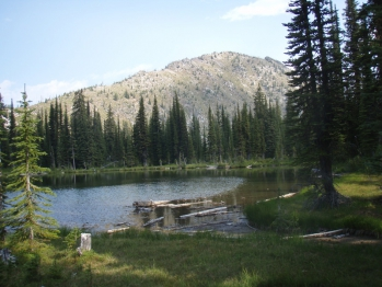 Headwater Alpine Lake in the Salmo Wilderness